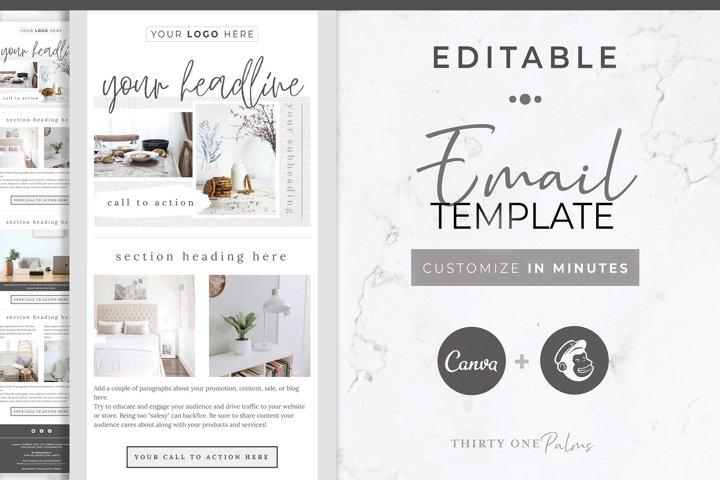 Canva & Mailchimp Template   Linen