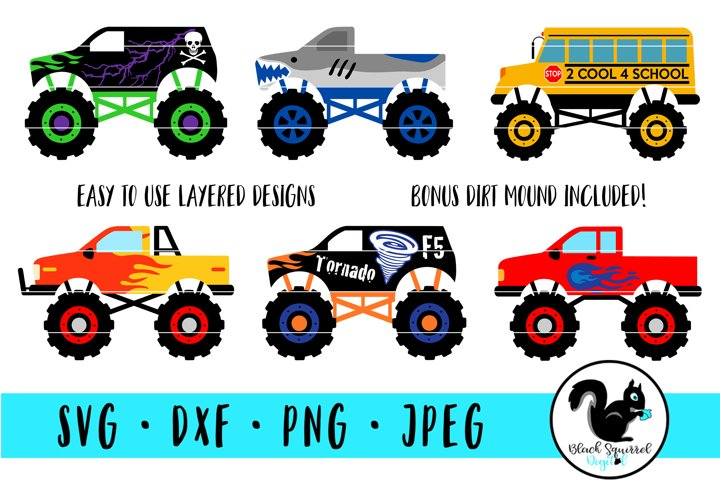 Monster Truck SVG, Truck Jam Clipart, Lifted Truck Bundle
