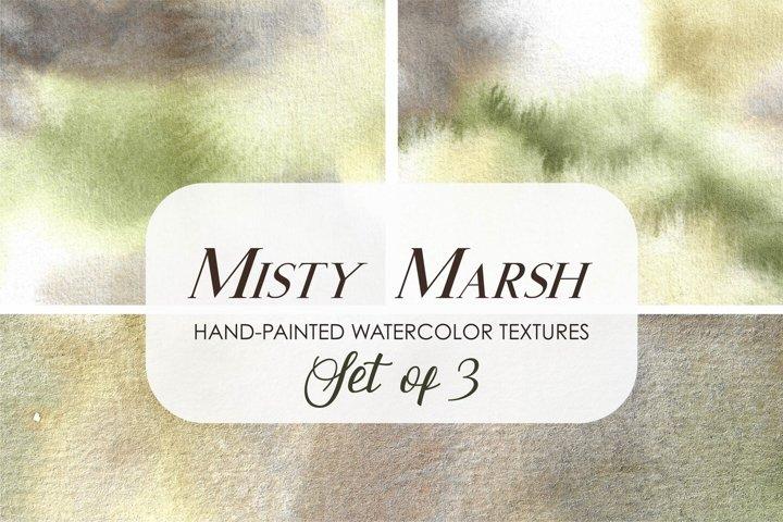 Misty Marsh Watercolor Background Textures