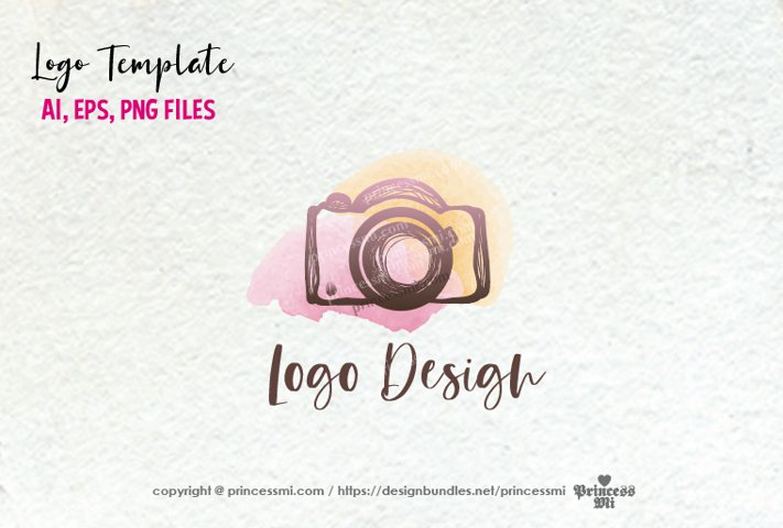 photography logo template, camera, logo design