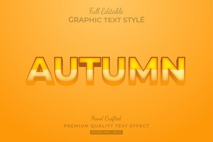 Autumn Editable 3D Text Style Effect Premium