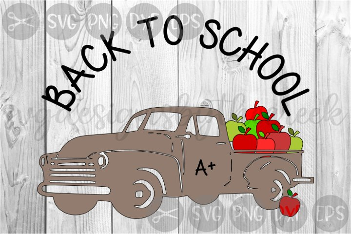 Back To School, Truck, Loads Of Apples, Cut File, SVG