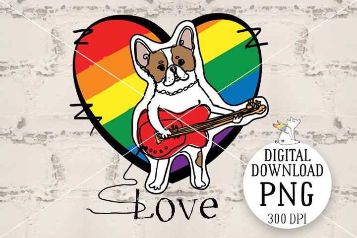 Breed French Bulldog, Dog clipart, LGBT design, Sublimation