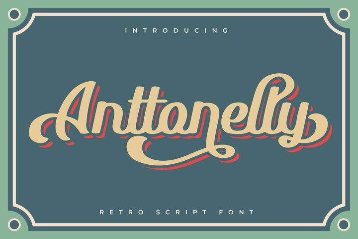 Anttonelly | Retro Script Font