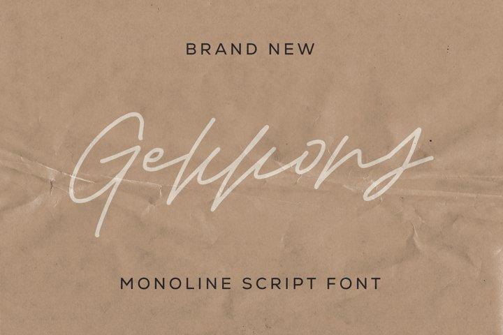 Gekkons - Monoline Script Font