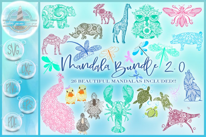 Mandala Bundle 2.0 | SVG Cut File Bundle | Zentangle Bundle