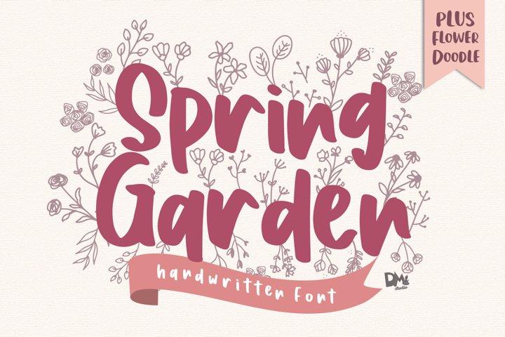 Spring Garden - Beautiful Handwritten Font