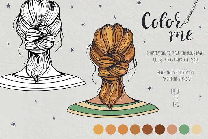 Color me. Womens hairstyle #10