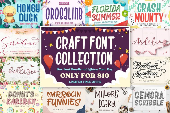 Happy Craft Font Collection