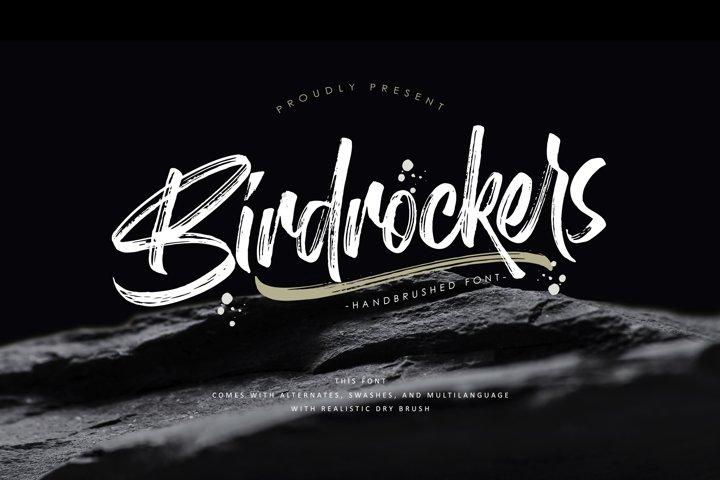 Birdrockers    Realistic Brush Font