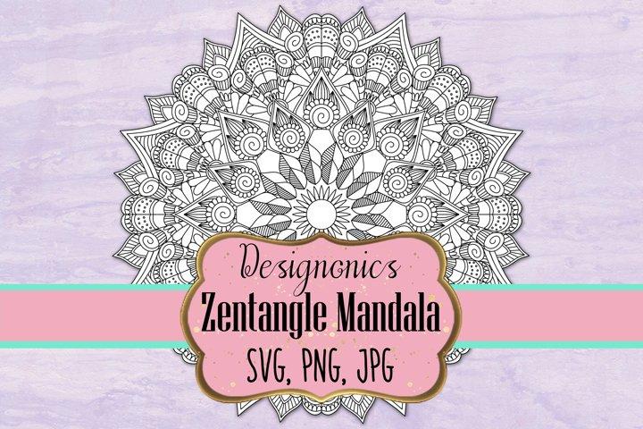 Zentangle Mandala 6 - SVG, PNG, JPG