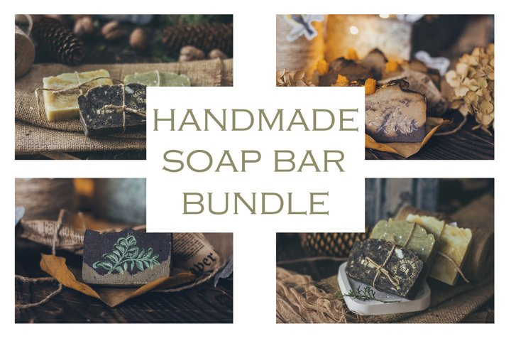 Beautiful natural handcrafted soap on wooden background