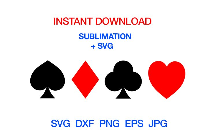 Playing cards svg,Diamond, Suits cut file