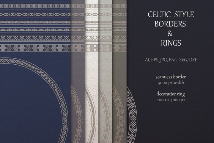 Celtic borders and Rings collection