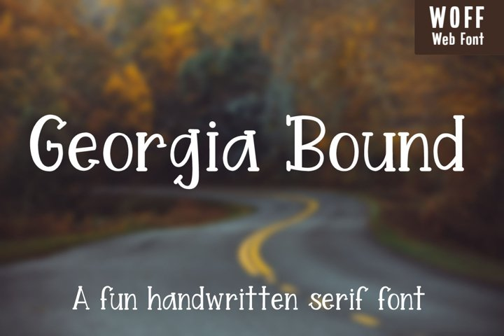 Georgia Bound - A fun handwritten serif font - WEB FONT