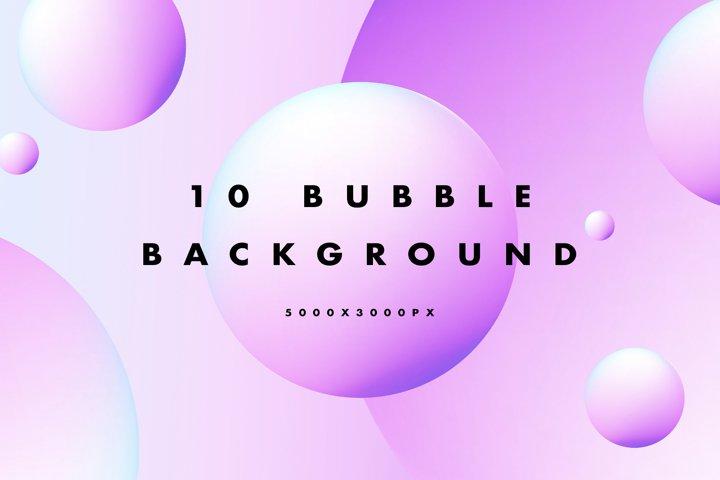 10 Bubble Gradient Background