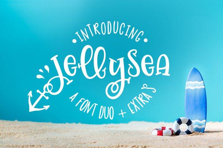 Jellysea - Font Duo  Summer Doodles