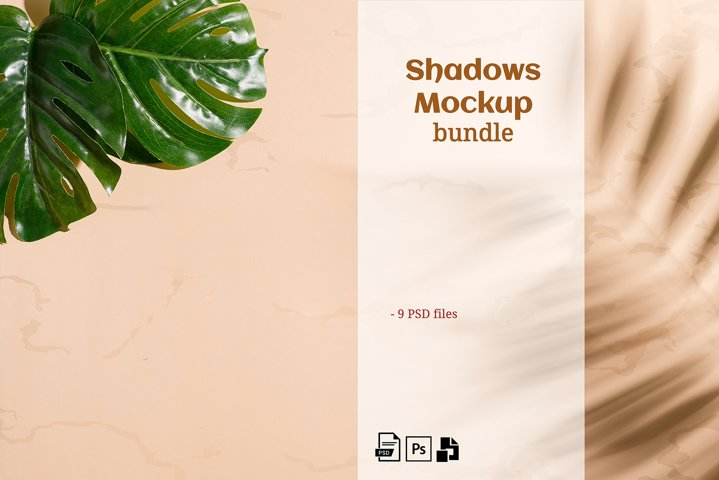 Shadows Pack with Leaves Mockup