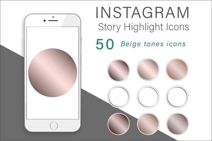 Beige Tones Instagram Highlights Icons