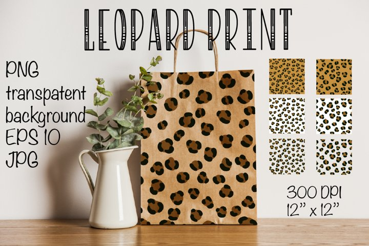 Leopard pattern. Seamless leopard pattern. Sublimation