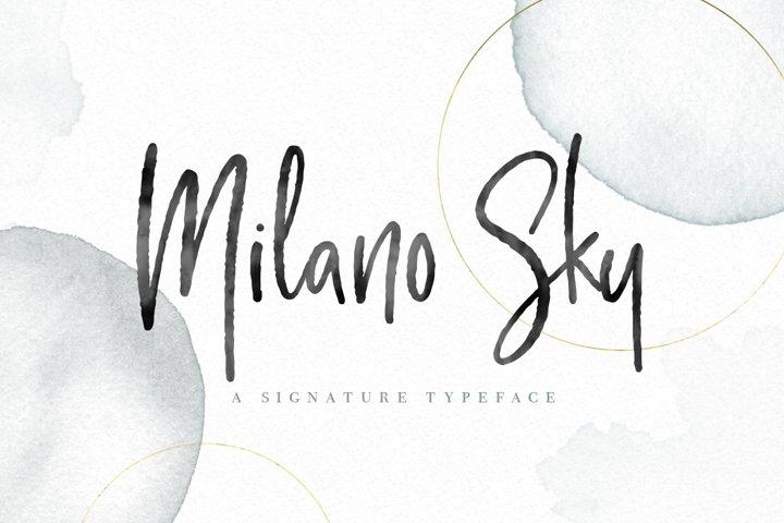 Milano Sky Signature Script Font
