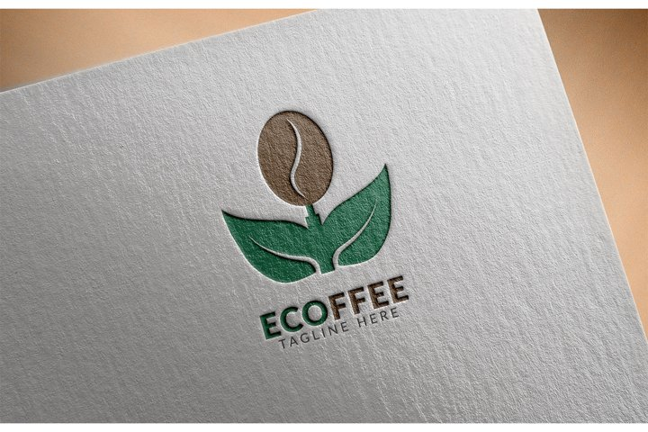 Awesome logo icon Eco Coffee creative design