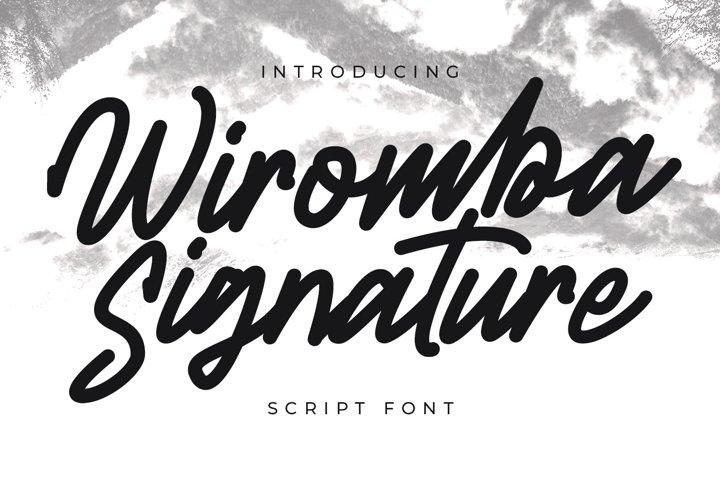 Wiromba Signature Script Font
