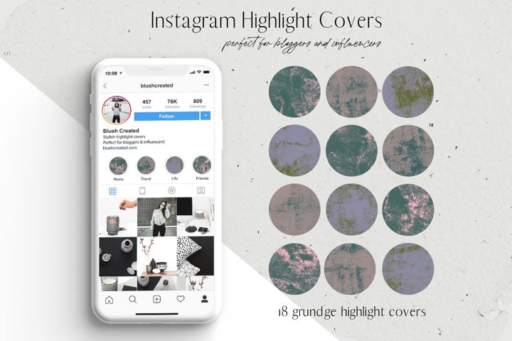Grunge Instagram Highlight Cover Icons