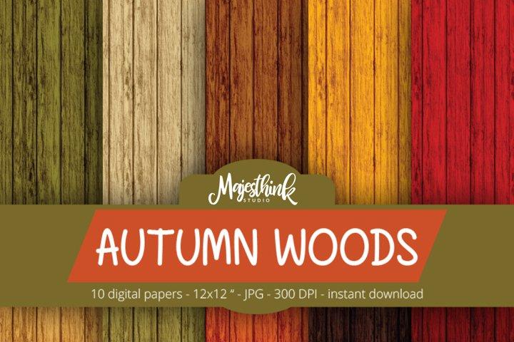 Autumn Woods Pattern - Fall Background