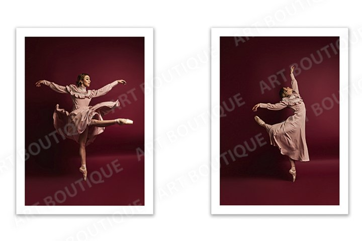 Ballet photo, Ballerina photo, dancer photo set, diptych