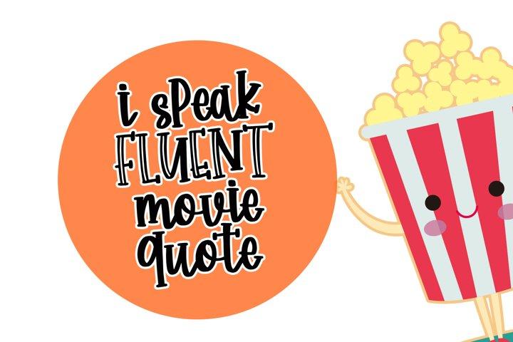 Happy Popcorn - Handwritten Font example 3