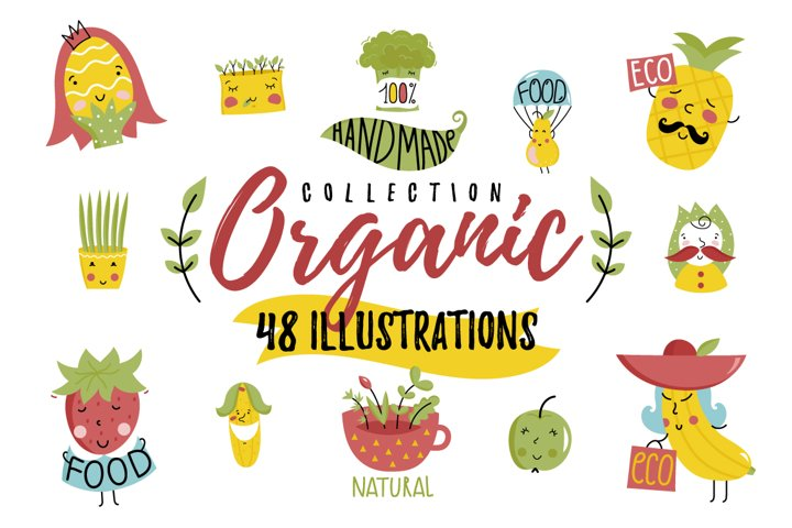 Hand drawn organic collection