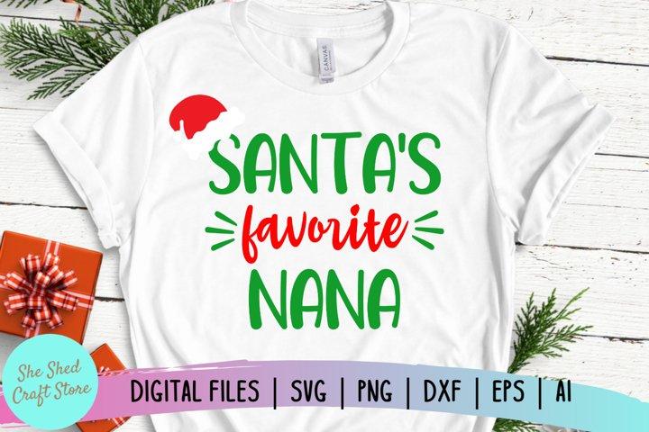 Santas Favorite Nana SVG, Christmas SVG, Holiday SVG
