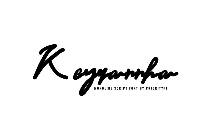 Keyrannha-Monoline Script
