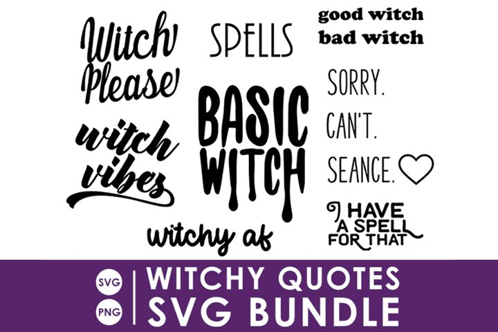 Witchy Quotes SVG Bundle