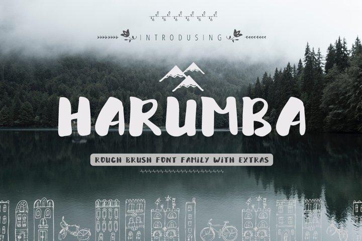 Harumba Brush font