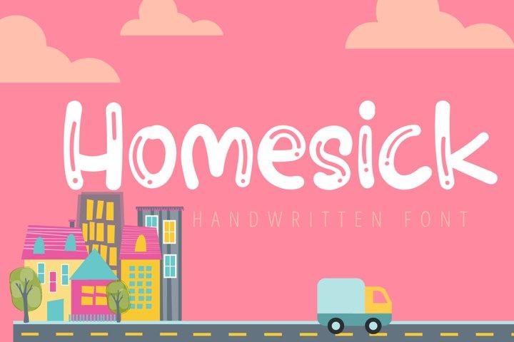Homesick-Cute Handwritten Font