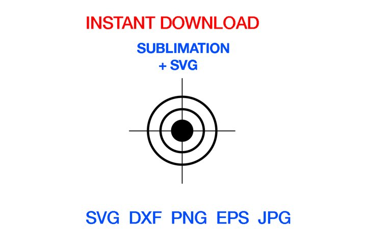 Target Aim Bullseye SVG, Goal Svg, Instant Download