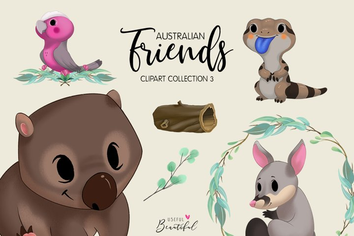 Australian Friends Clipart Collection 03