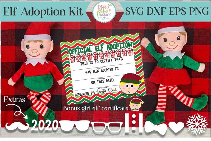 Elf Adoption Certificate and Elf SVG dress kit