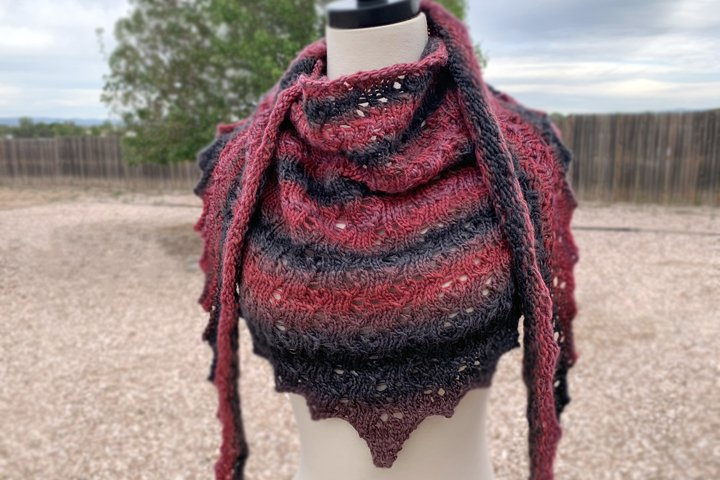 Solitude Knit Shawl Pattern