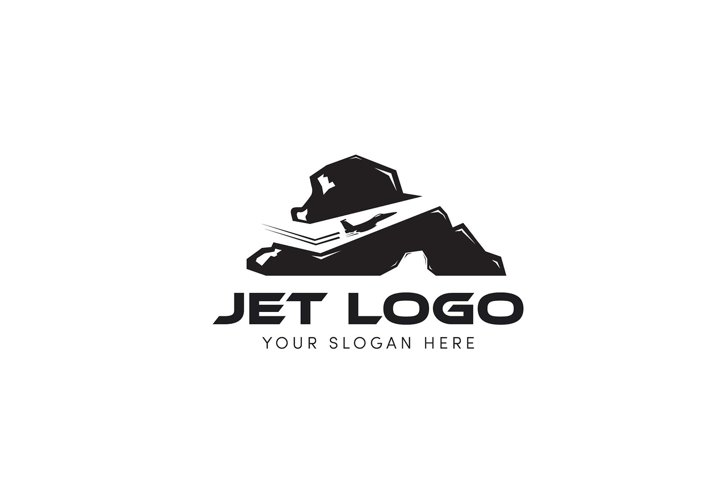 Jet logo drilling the hill and mountain logo