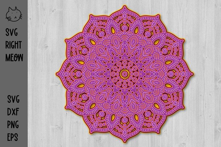 3D Mandala SVG, 3D Layered Mandala