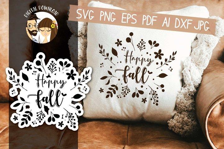 Happy Fall SVG