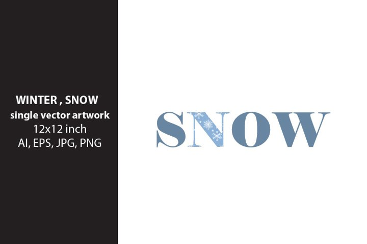 winter,snow - VECTOR ARTWORK