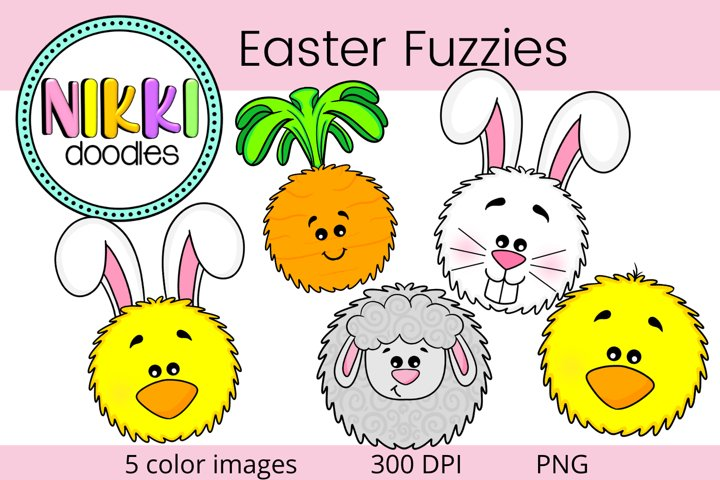 Easter Fuzzies Clipart