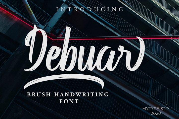 Debuar - Brush Font