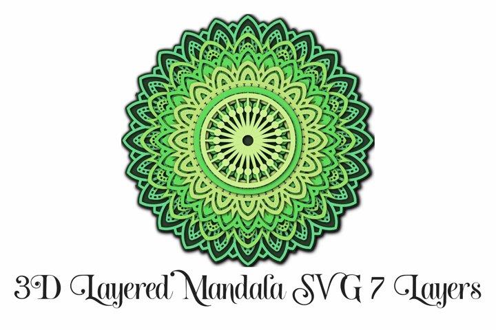 3D Layered Mandala SVG and PNG 7 Layers example