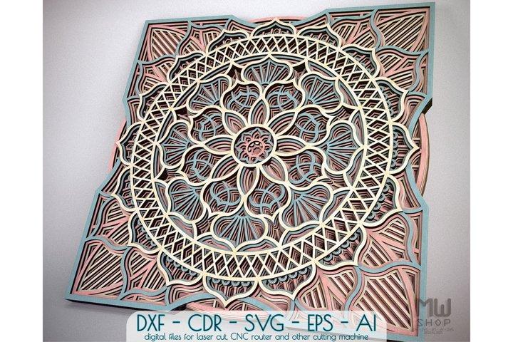 Download Free Laser Engraving Download M05 Mandala Dxf Pattern Laser Cut Flower Mandala Pattern Free Design Resources