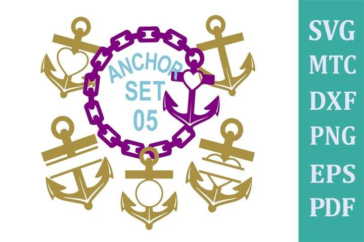Anchor Set 05 Cruise Bundle Sublimation SVG Cut File